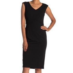 TAHARI Sheathe sleeveless dress